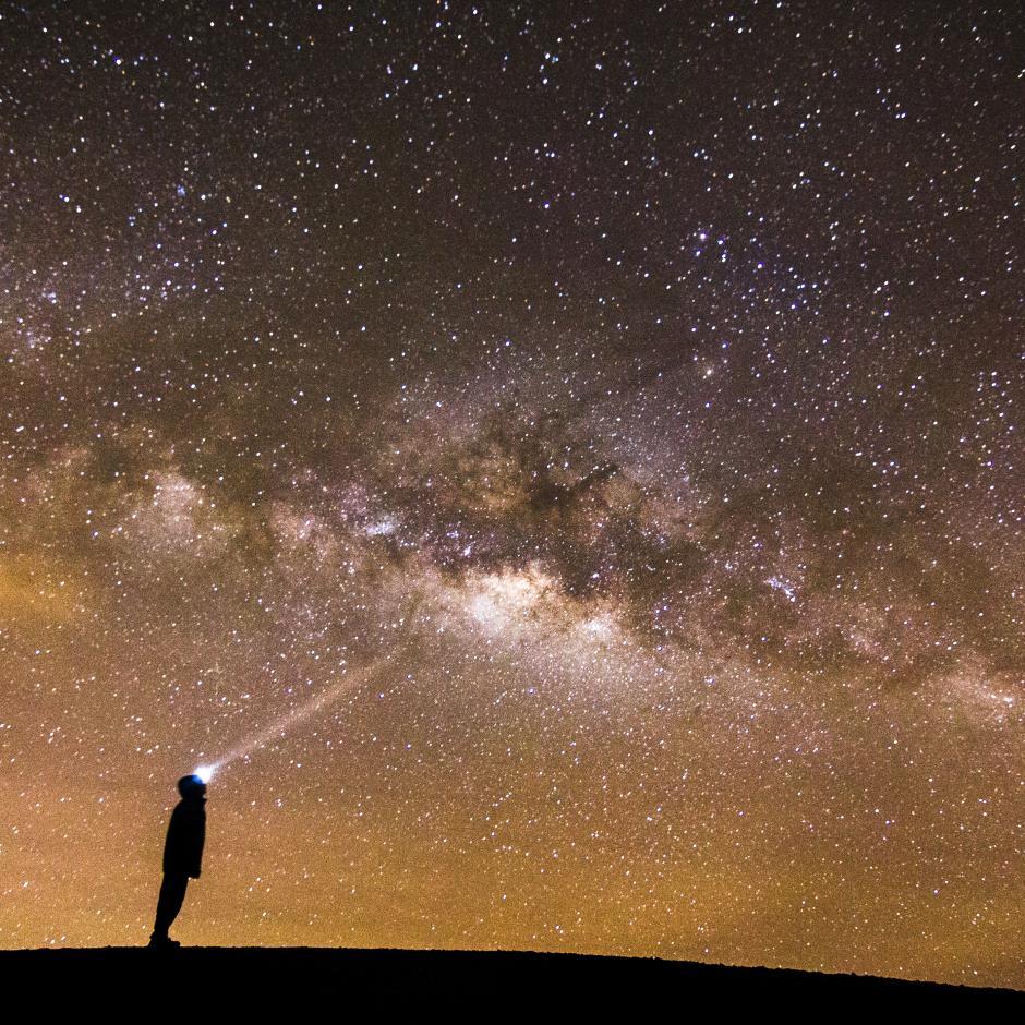 Así se ve la Vía Láctea desde lo alto del Acatenango. (Foto: Fabriccio Díaz)