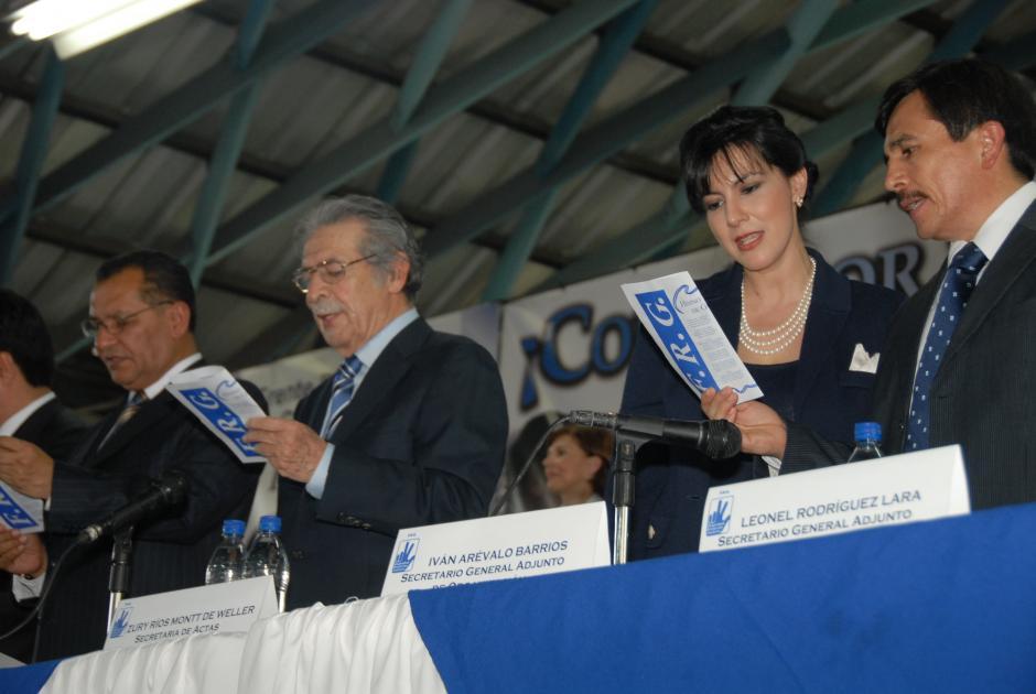 Aquí Zury Ríos como miembro del FRG.(Foto: Archivo/Soy502)