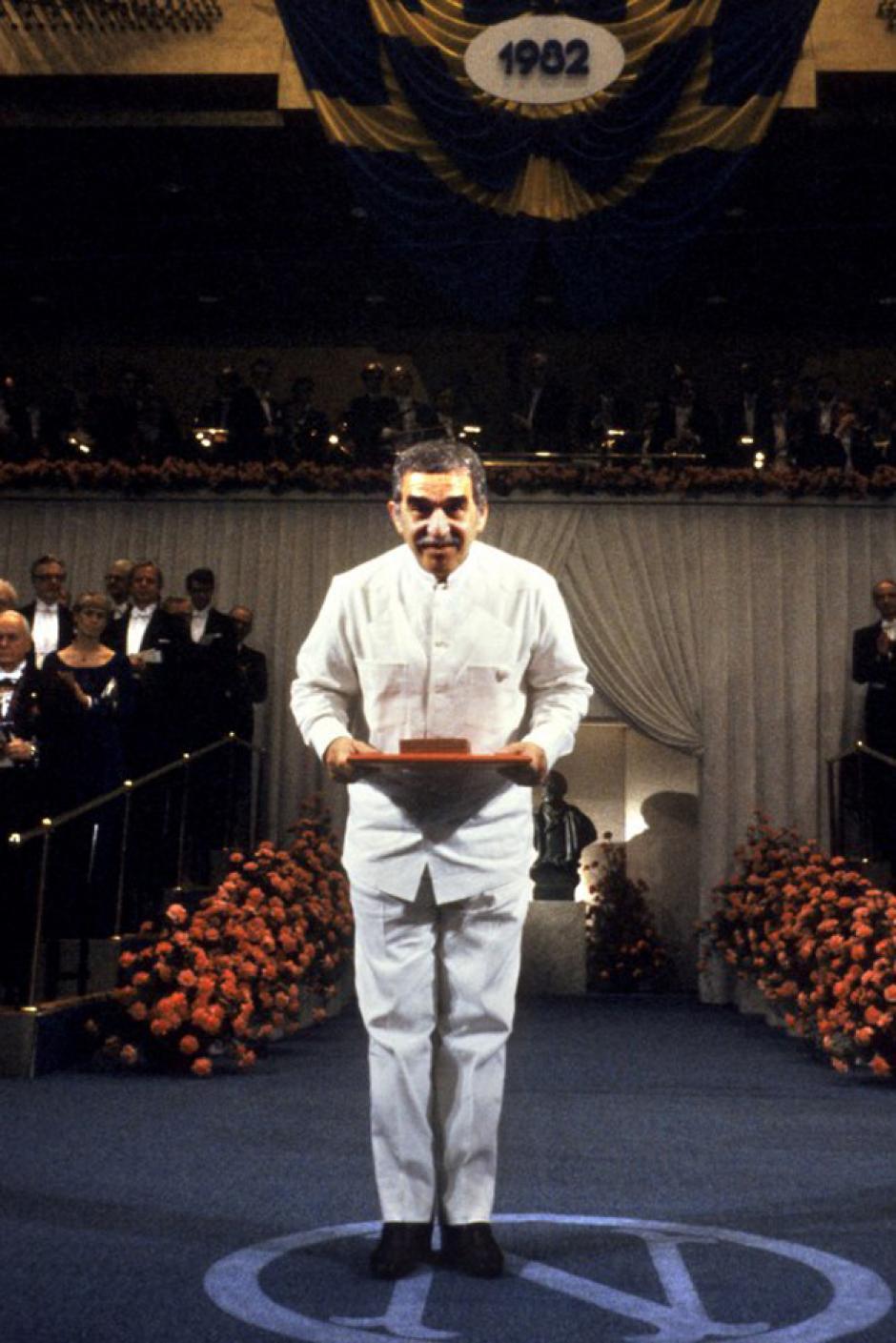 """En 1982 """"Gabo"""" recibió el Premio Nobel de Literatura por su trabajo con obras como """"Cien años de soledad"""" y """"Crónica de una muerte anunciada"""". (Foto: AFP)"""