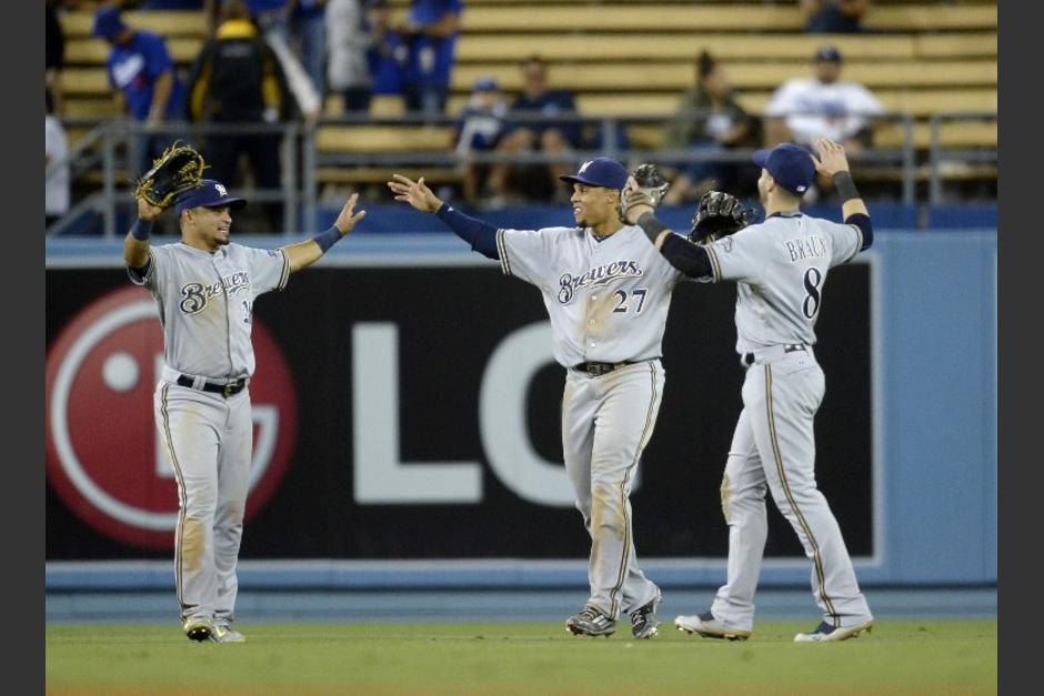Los Cerveceros de Milwaukee vencieron a los Dodgers con un marcador de 7 carreras contra 1