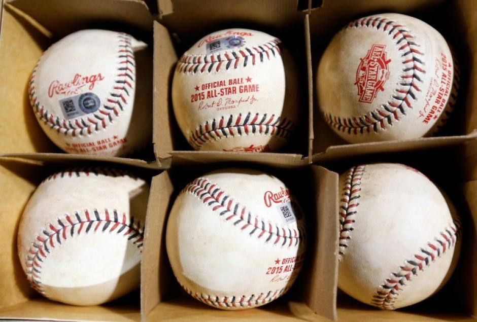 Las pelotas oficiales de la edición 85 del Juego de las Estrellas. (Foto: AFP)