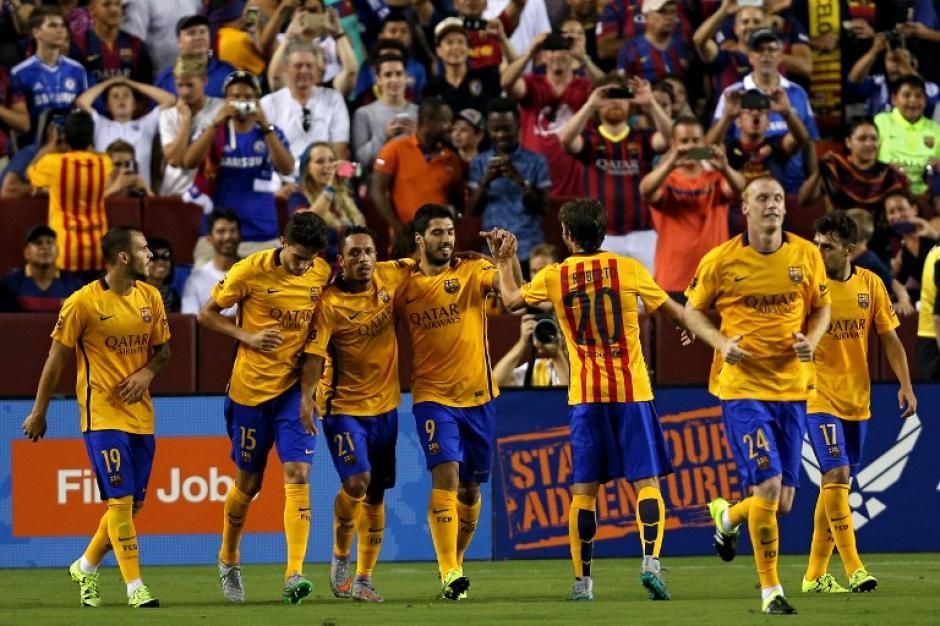 Suárez anotó uno de los tantos del Barcelona ante el Chelsea. (Foto: AFP)