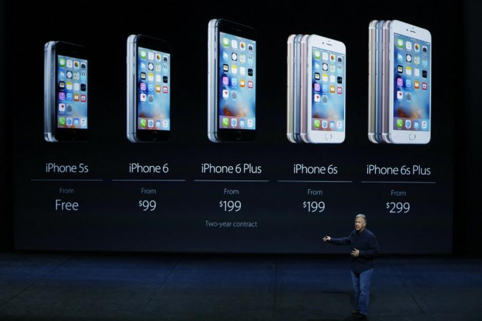 La gama de dispositivos iPhone. (Foto:AFP)