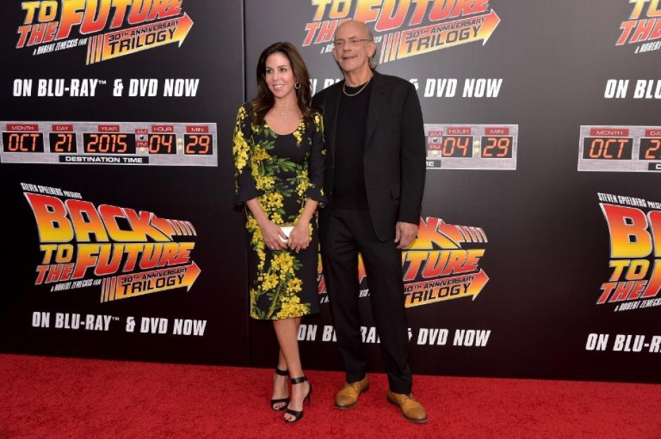 Los actores fueron parte de un rencuentro a 27 años del lanzamiento de la película Regreso al Futuro II. (Foto: AFP)