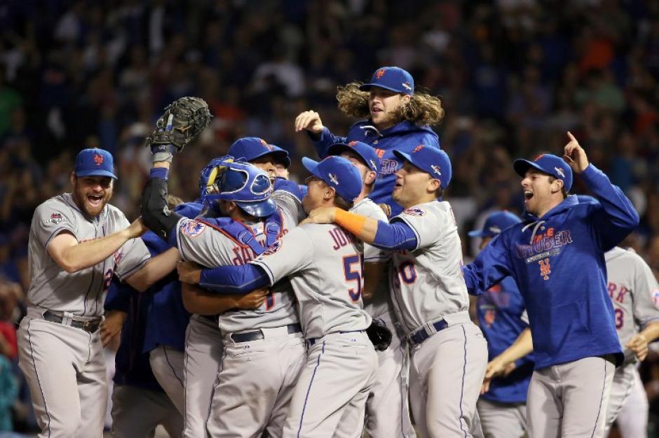 Los Mets celebraron su pase a la Serie Mundial. (Foto: AFP)