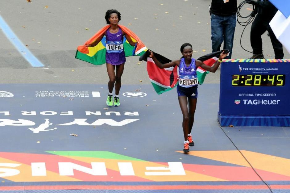 Los competidores africanos volvieron a destacar en el podio del Maratón de Nueva York. (Foto: AFP)