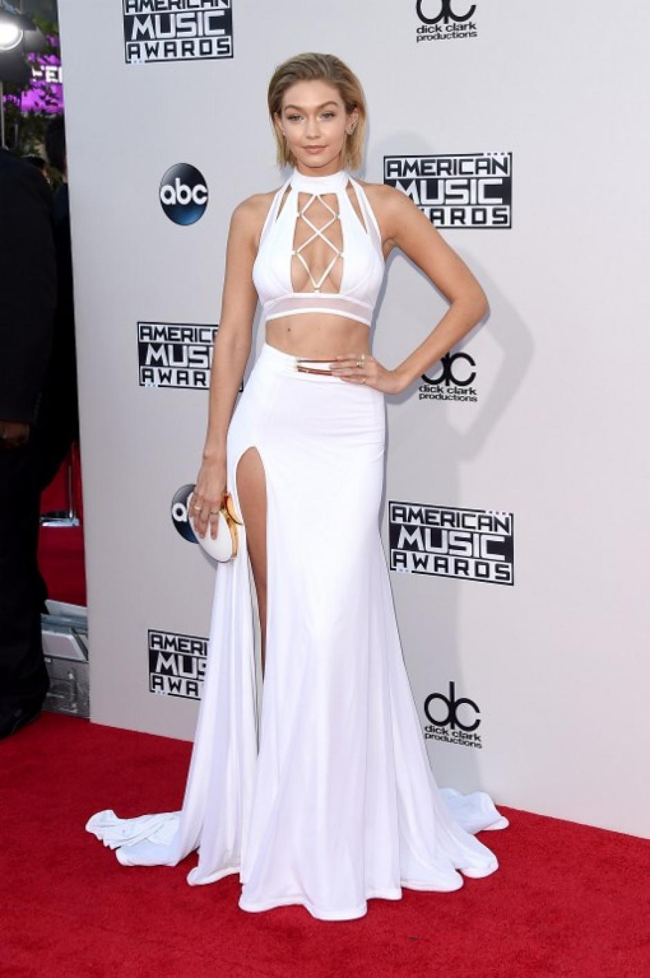 Modelo Gigi Hadid en los American Music Awards en Los Ángeles, California. (Foto: Jason Merritt / AFP)