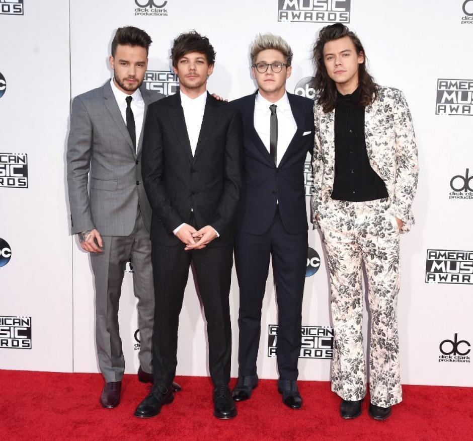 Los artistas Liam Payne, Louis Tomlinson, Niall Horan y Harry Styles de One Direction en los American Music Awards. (Foto: Jason Merritt /AFP)