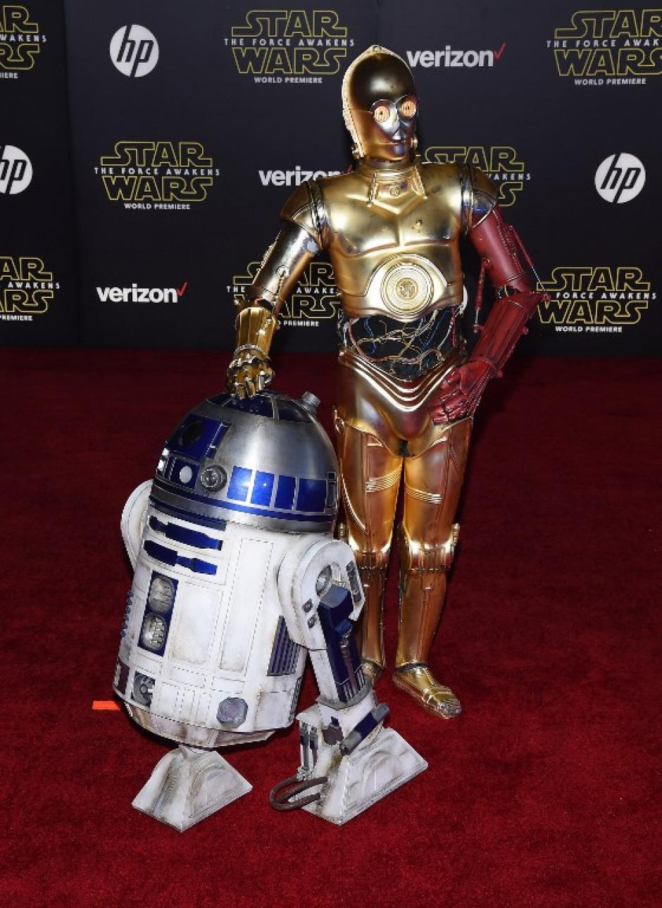 C-3PO y R2-D2 (Foto: AFP)