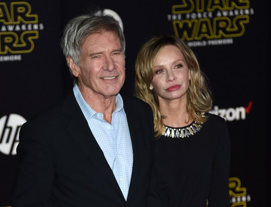 Harrison Ford con Calista Flockhart. (Foto: AFP)