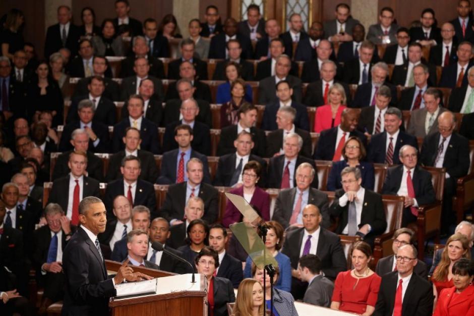 El presidente Barack Obama, sacó a pecho en su último discurso Estado de la Unión la recuperación económica lograda durante su mandato. (Foto: AFP)