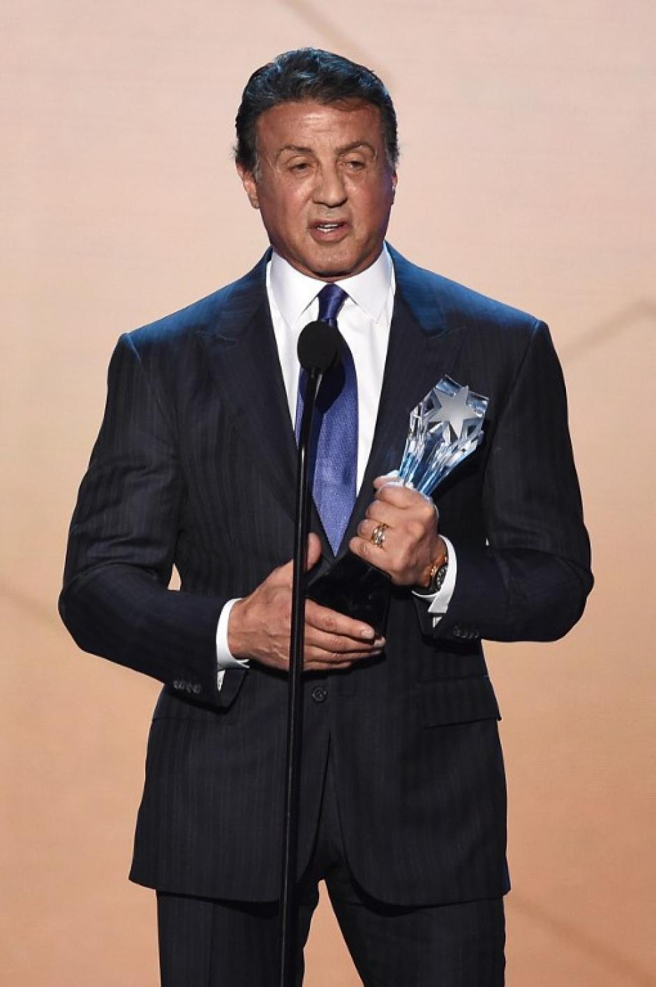 El actor Silvester Stallone fue uno de los galardonados durante la ceremonia. (Foto: AFP)
