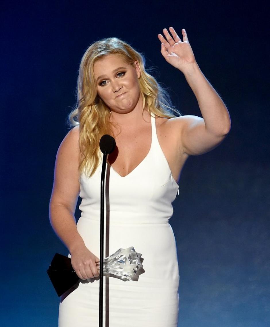 Amy Schumer obtuvo el premio a Mejor Actriz de Comedia por su papel en Trainwreck, además del premio MVP. (Foto: AFP)