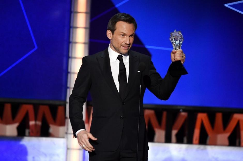 ElActor Christian Slater fue galardonado por su participación en Mr. Robot. (Foto: AFP)