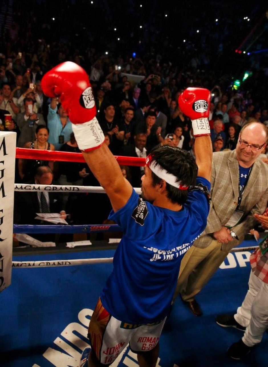 Pacquiao ganó en las tarjetas 116-110. (Foto: AFP)