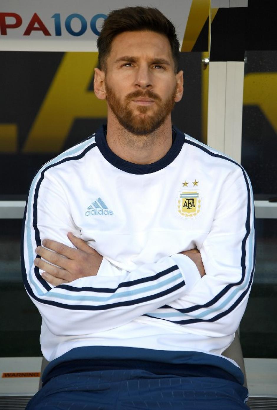"""Messi vio el partido desde el banquillo. """"Por precaución"""", argumentó el técnico Martino. (Foto: AFP)"""
