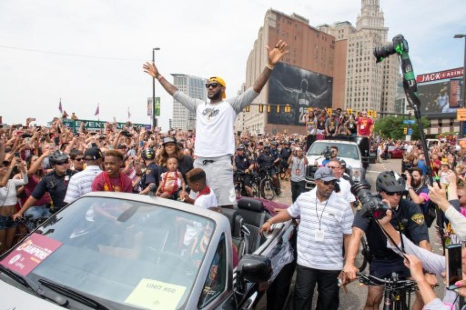 LeBron James, uno de los jugadores más aclamados en Cleveland. (Foto: AFP)