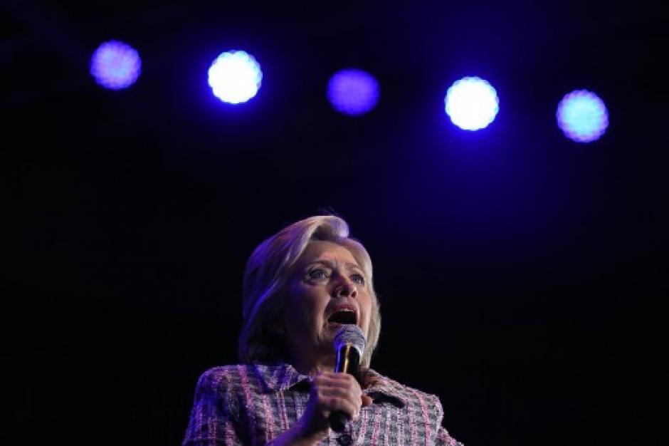 Hillary Clinton ofreció un mensaje previo al gran discurso. (Foto: AFP)