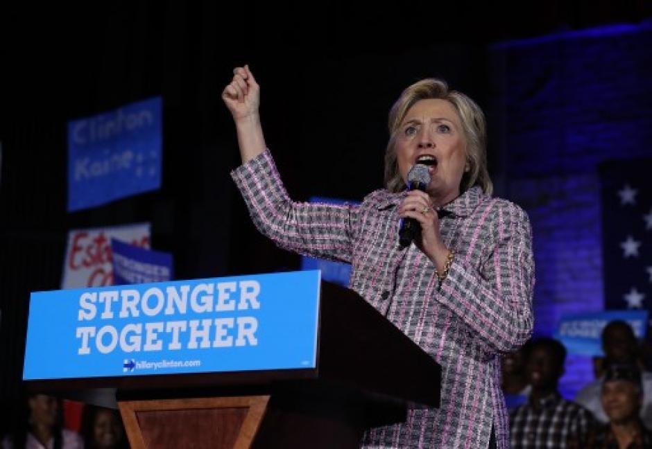 Esta noche la proclamarán como candidata a la presidencia de Estados Unidos. (Foto: AFP)