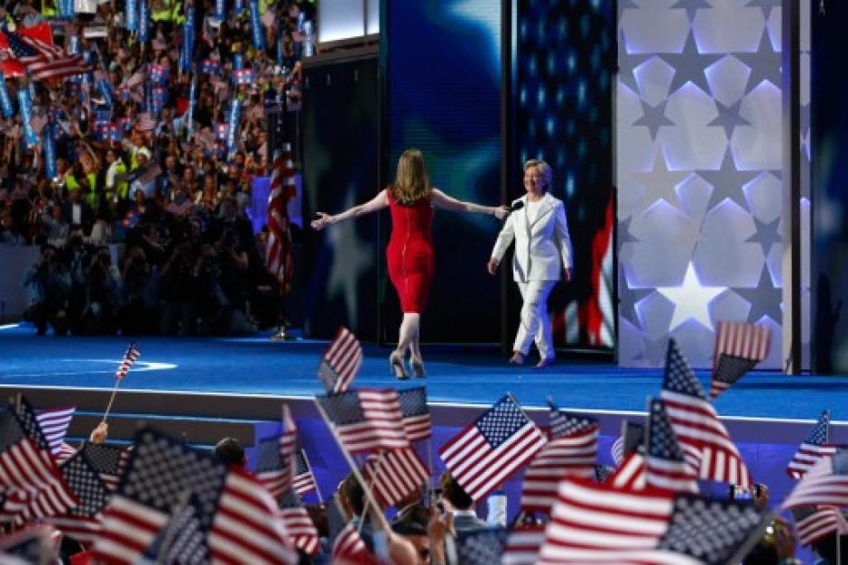 Chelsea Clinton presentó a su madre como la candidata Demócrata. (Foto: AFP)