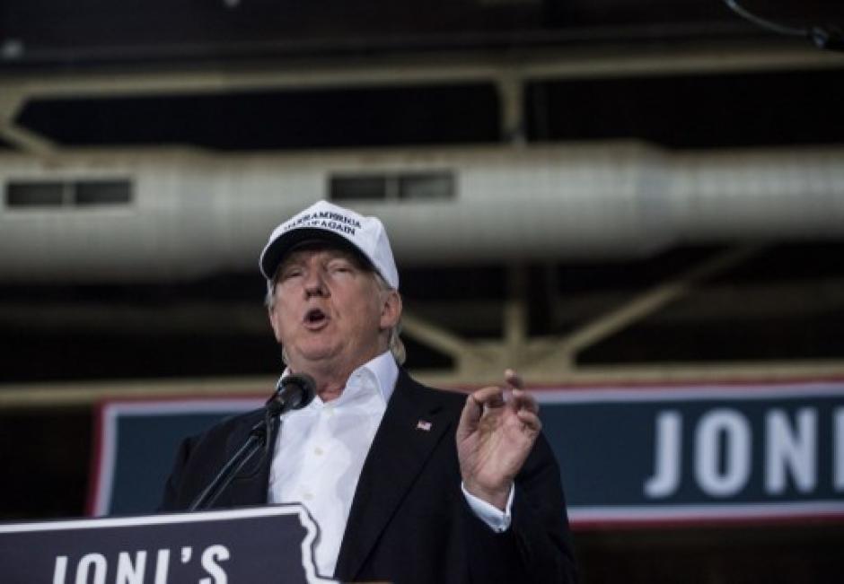 Trump ofreció un discurso en Whashington este martes. (Foto: AFP)