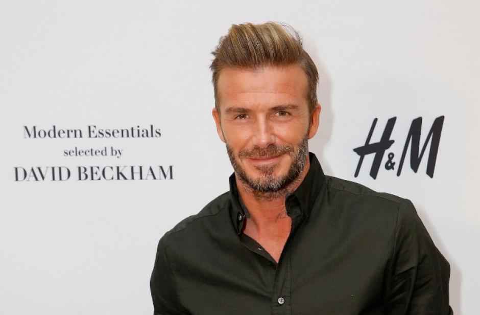 Este es David Beckham (obviamente)... (Foto: AFP)