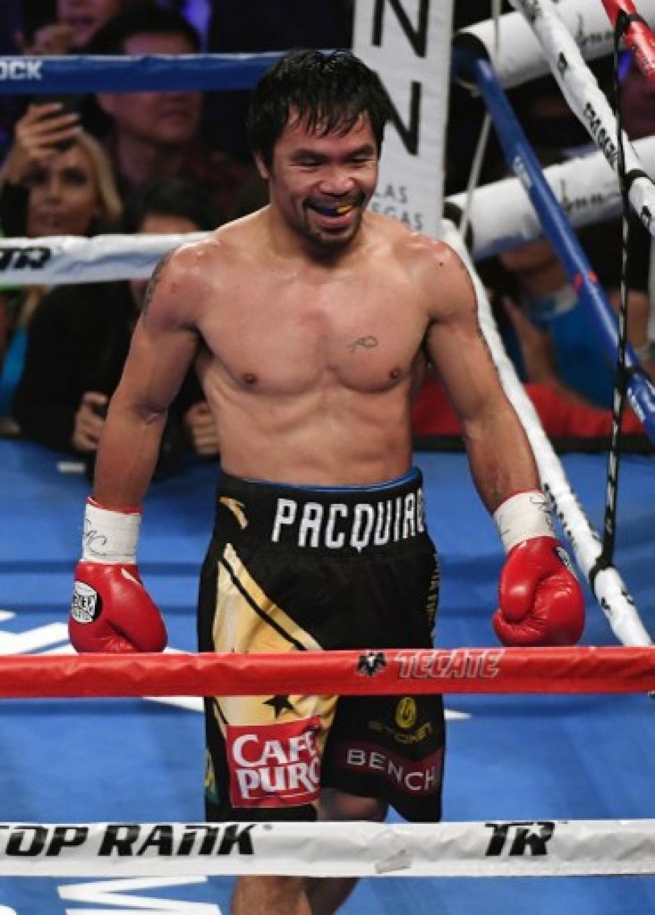 Pacman también es cantante y diputado de Filipinas.  (Foto: AFP)