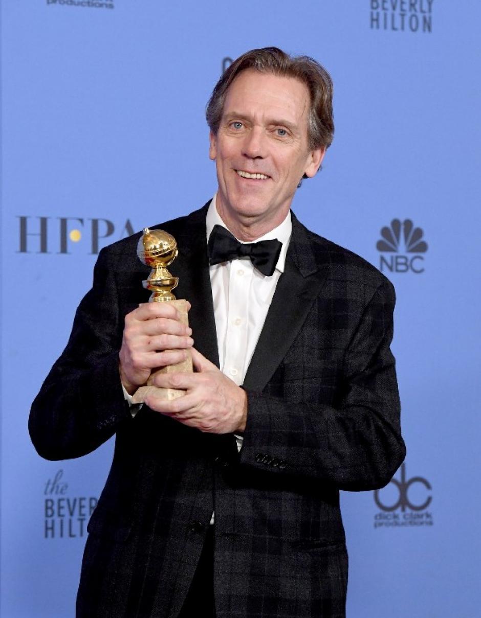 Hugh Laurie obtuvo el premio a Mejor actor de reparto de serie, miniserie o película para televisión. (Foto: AFP)