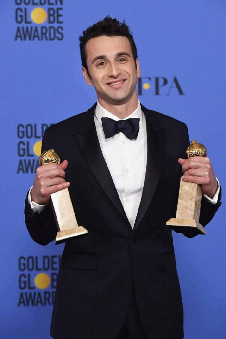 Justin Hurwitz, de La la Land obtuvo dos reconocimientos. (Foto: AFP)