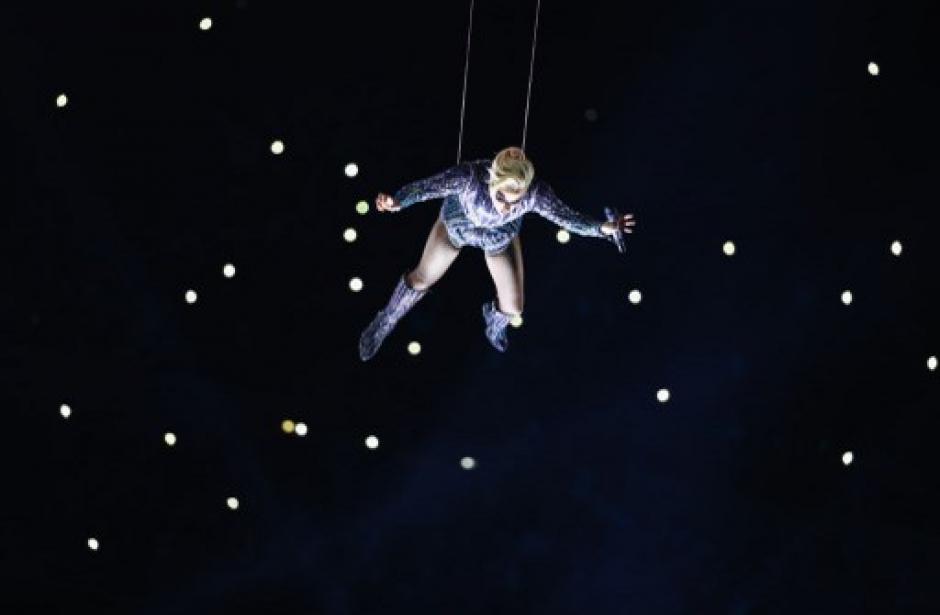Lady Gaga estuvo a cargo del espectáculo de medio tiempo. (Foto: AFP)