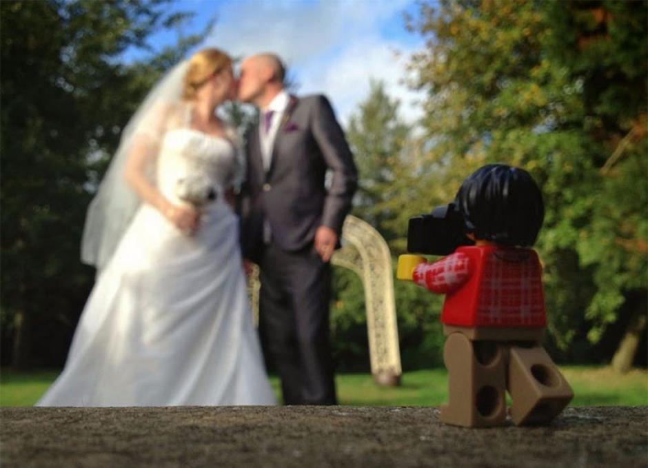 El Legógrafo en una boda. (Foto: Andrew Whyte)