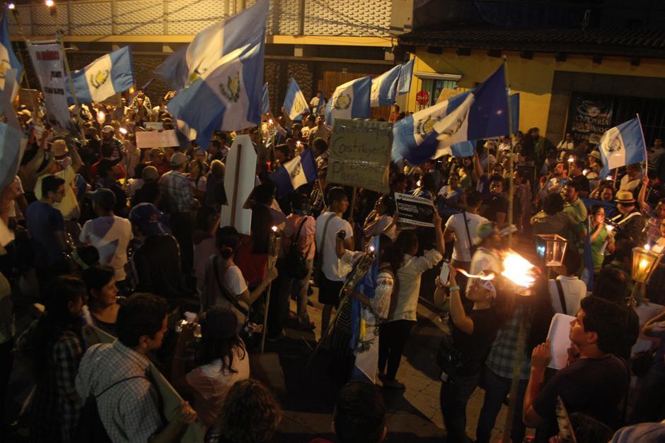 El Rechazo fue grante frente a la Corte de Constitucionalidad. (Foto: Alejandro Balam/Soy502)