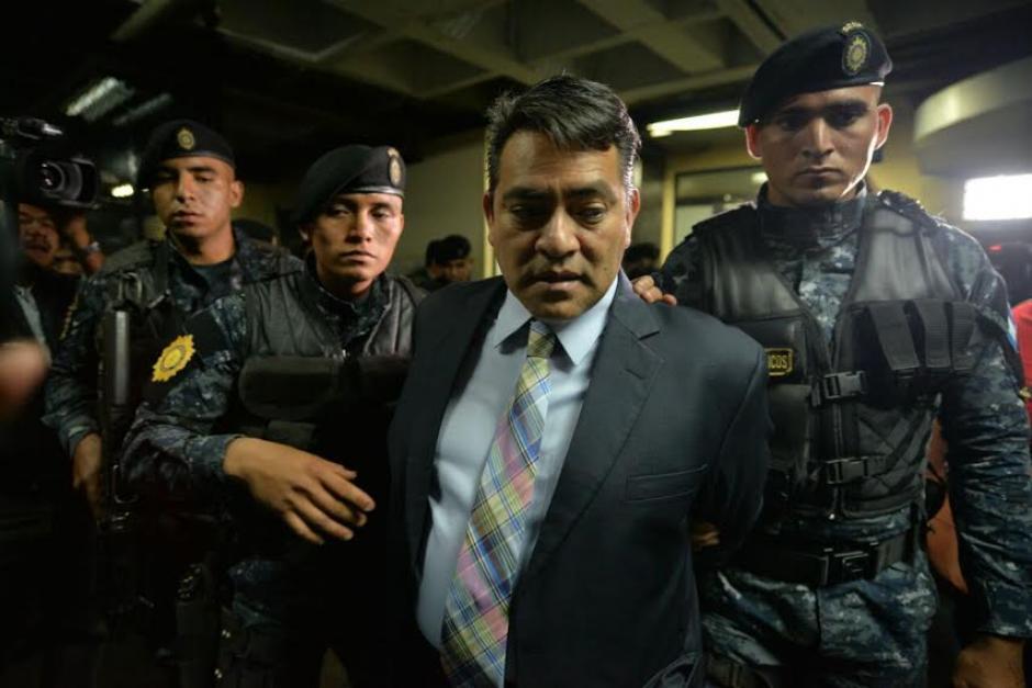 El capturado es sindicado en un caso de plazas fantasma.  (Foto: Wilder López/ Soy502)