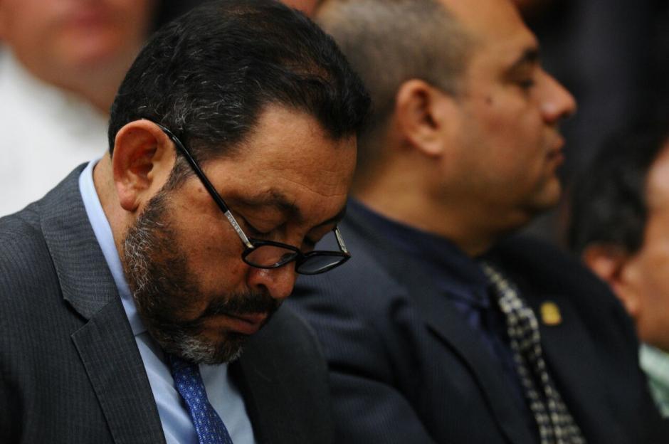 El exministro de Gobernación Mauricio López Bonilla durante la continuación de la audiencia de primera declaración por el caso Cooptación del Estado.  (Foto: Alejandro Balán/Soy502)