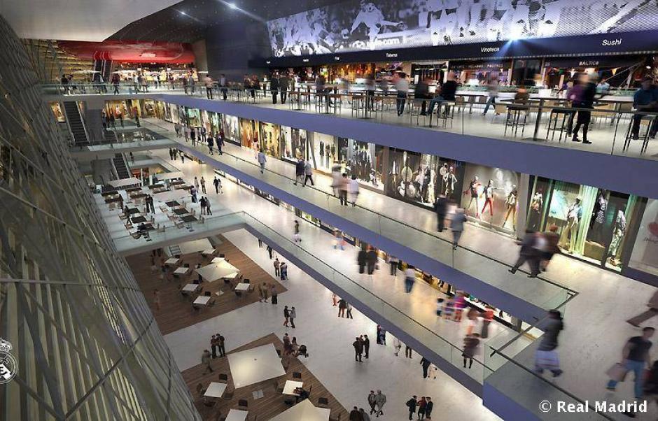 Un centro comercial de primer nivel será construido dentro del complejo deportivo. (Imagen: Real Madrid)