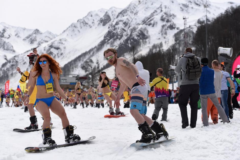 Ellos dan la bienvenida a la primavera en Sochi. (Foto: Getty)