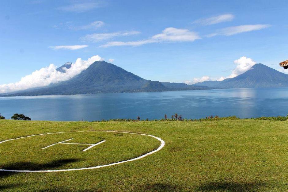 Casa Palopó tiene un helipuerto que facilita el traslado de sus huéspedes desde la ciudad de Guatemala u otros lugares.(Foto: Casa Palopó)
