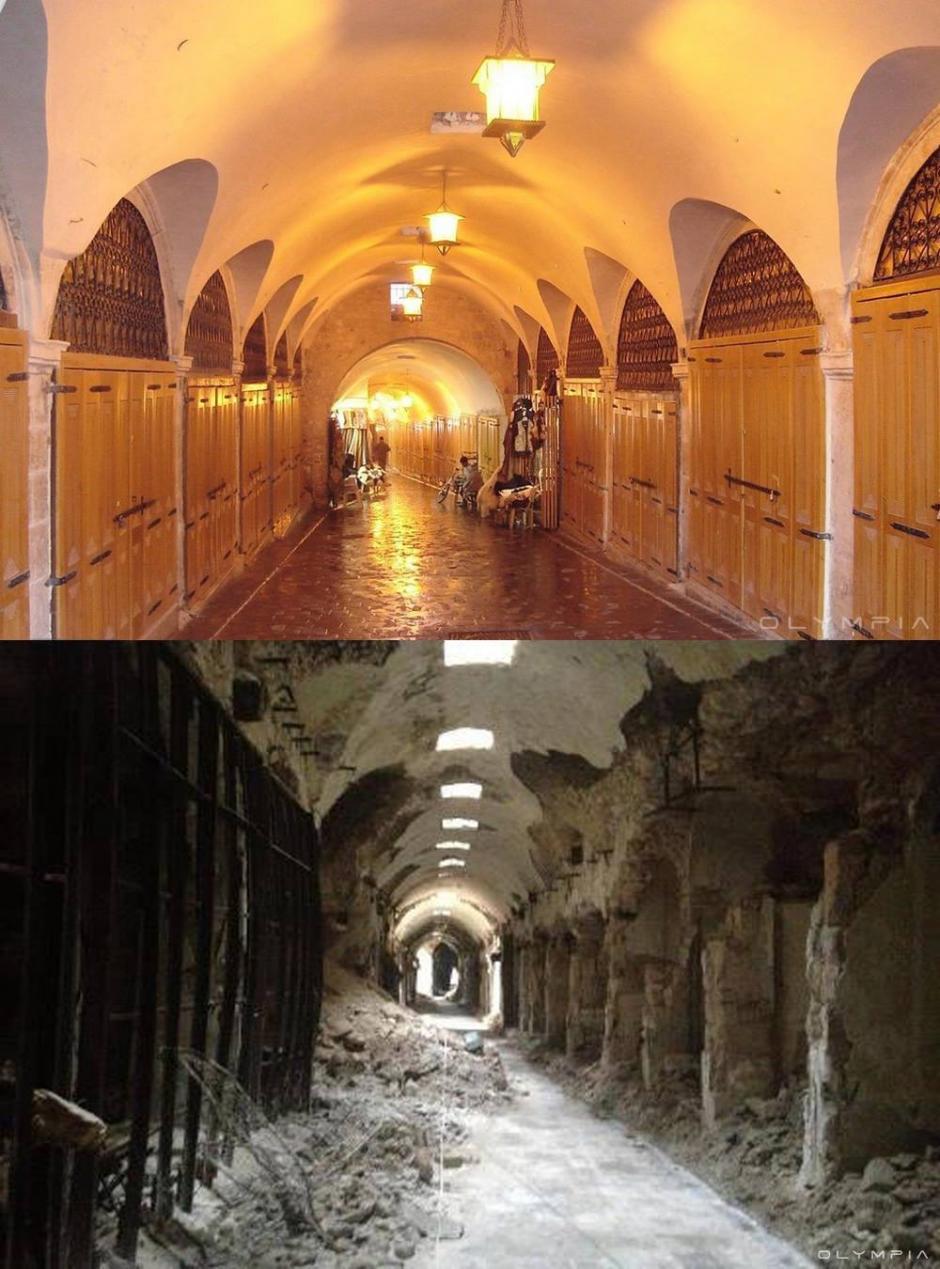 Los mercados de la ciudad vieja de Alepo. (Foto: Olympia.Rest/Facebook)