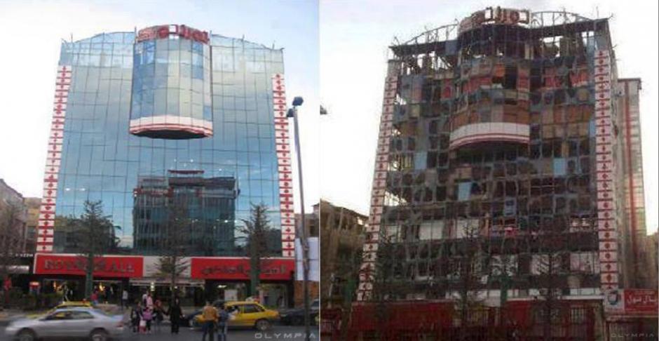 Un centro comercial en el centro de Alepo. (Foto: Olympia.Rest/Facebook)