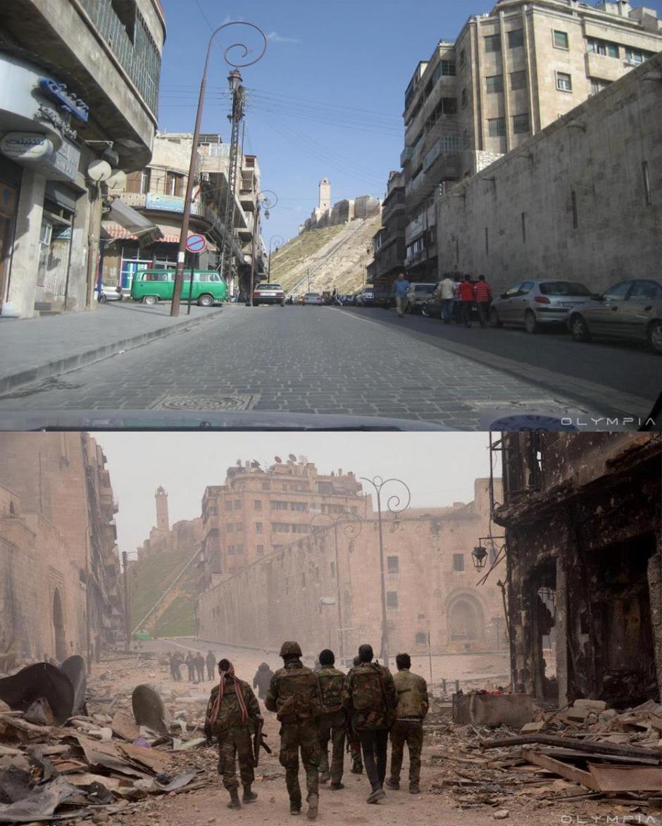 Una calle principal en Alepo. (Foto: Olympia.Rest/Facebook)