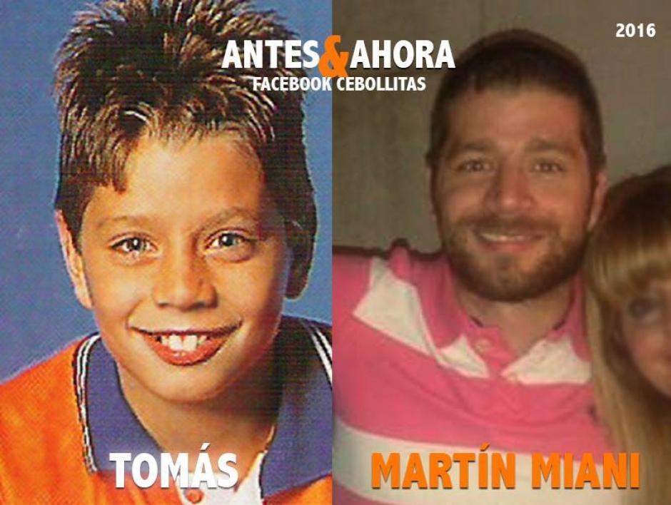 """""""Tomás"""" está alejado de la TV. Es abogado y padre. (Foto: Cebollitas/Facebook)"""
