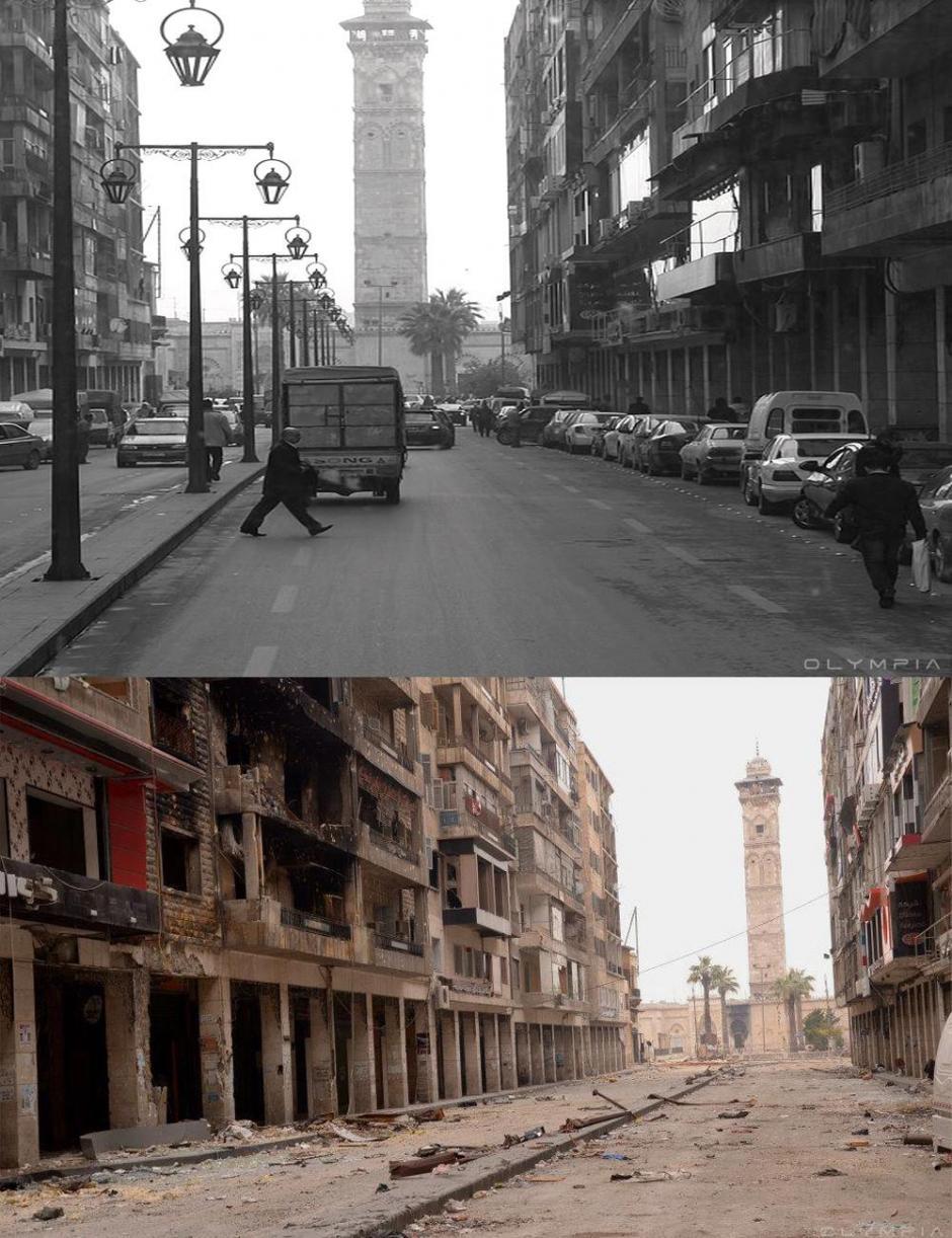 La calle que conduce a la mezquita de los Omeyas (Foto: Olympia.Rest/Facebook)