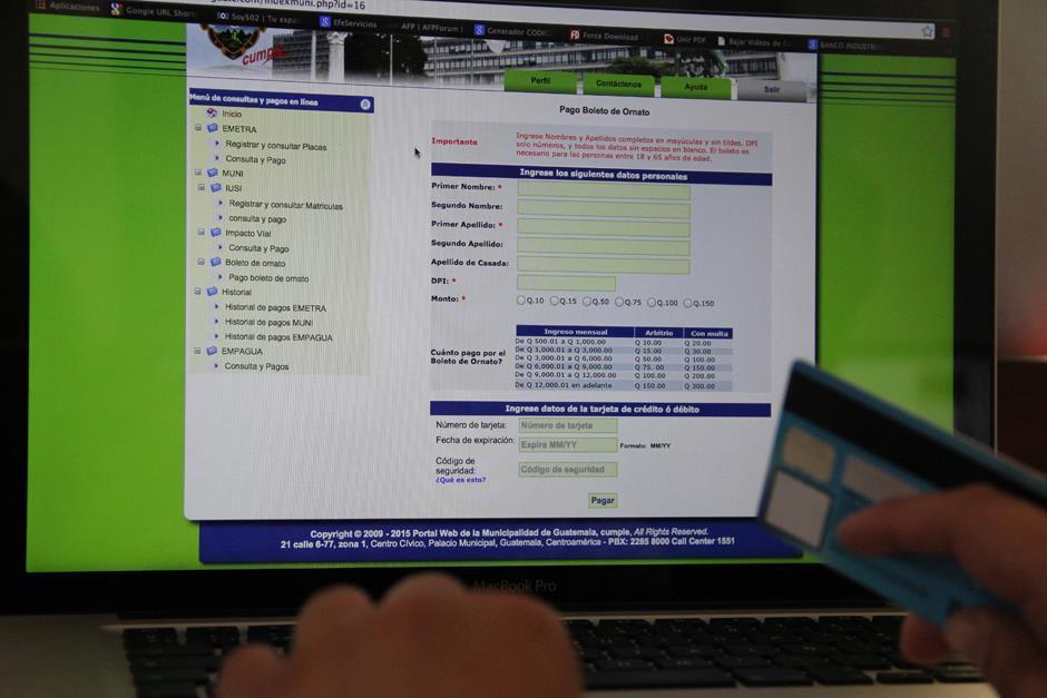 El pago en línea es uno de los beneficios que ofrece la comuna capitalina. (Foto: Archivo/Soy502)