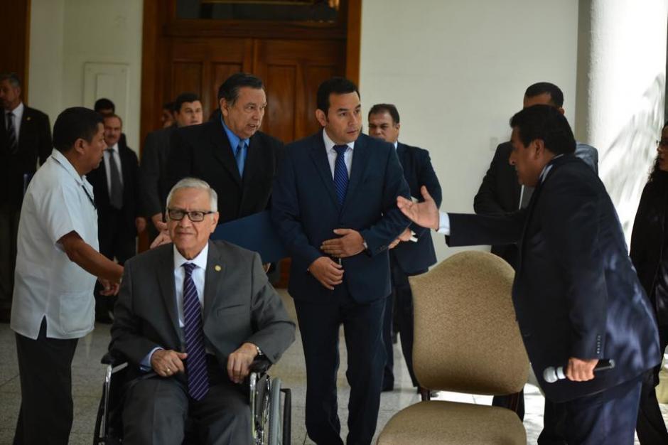 El tema principal de la reunión entre Maldonado y Jimmy Morales fue la transición de gobierno. (Foto: Jesús Alfonso/Soy502)