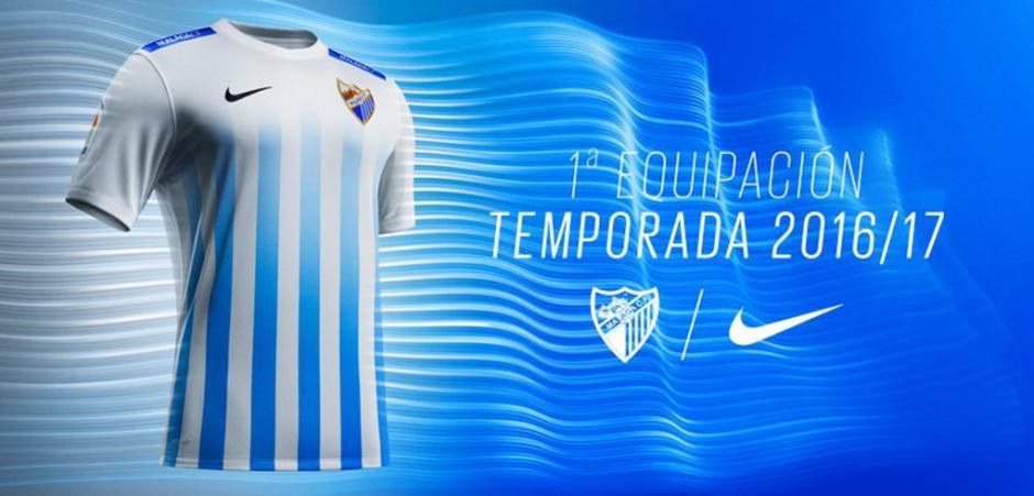 El escudo del Málaga se encuentra a medio camino, en la posición 10 de la lista. (Foto: todosobrecamisetas.com)