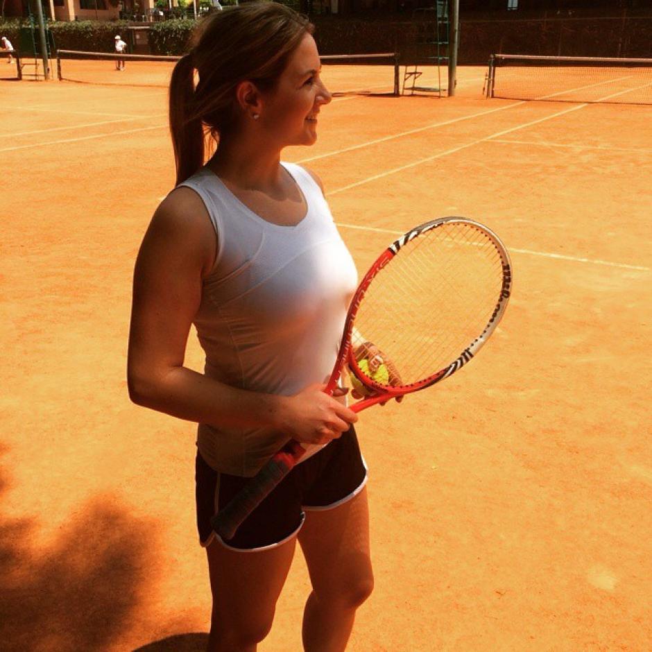 Jocelyn fue seleccionada de tenis, por eso se especializa en la conducción de este tipo de eventos. (Foto: Jocelyn Taylor)
