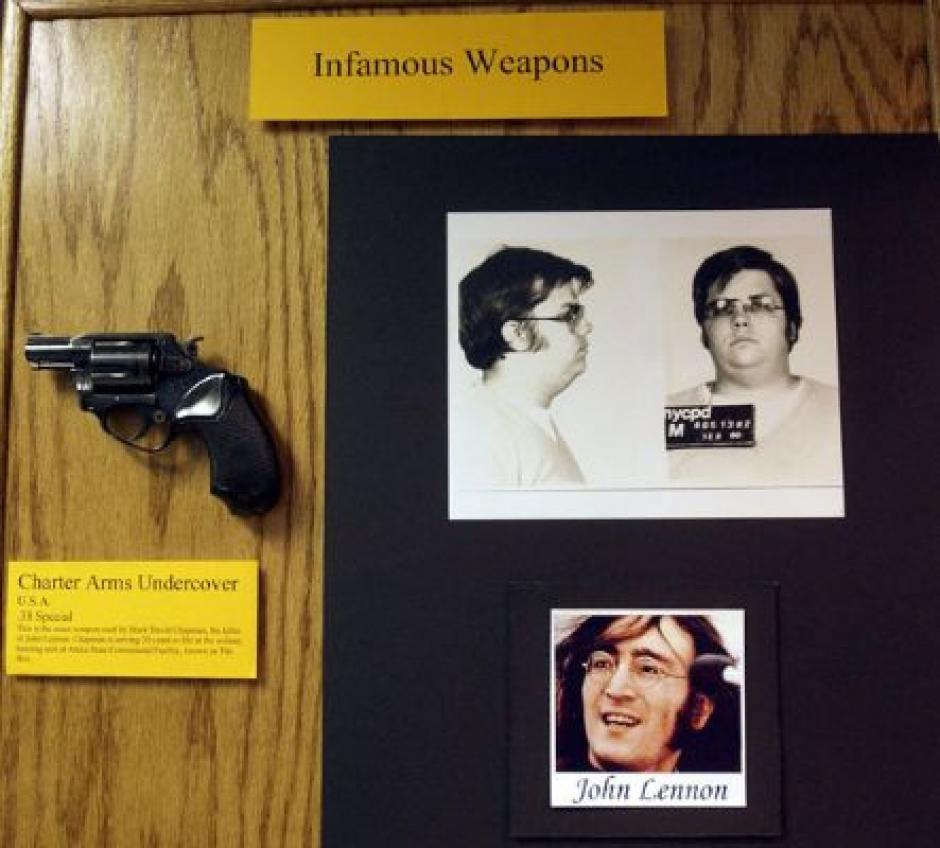 Esta es el arma con la queMark David Chapman asesinó a John Lennon en la entrada de su apartamento.