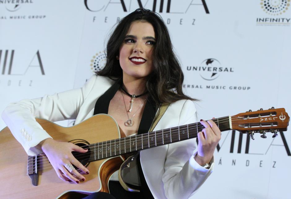 La mexicana Camila Fernández, hija del cantante Alejandro Fernández. (Foto: EFE)