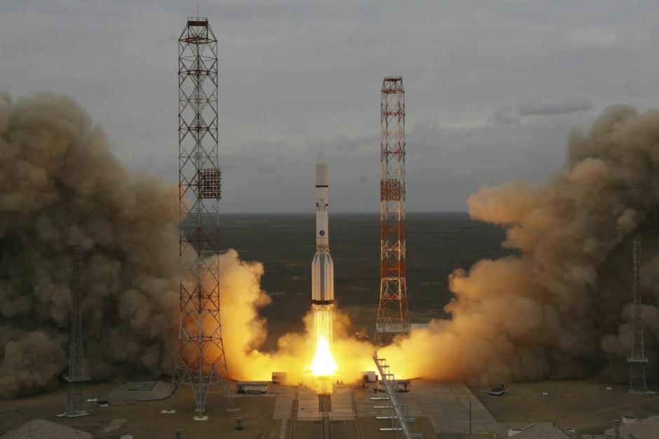 La fotografía muestra el lanzamiento de la misión ExoMars 2016 desde el cosmódromo ruso de Baikonur, Kazajistán. (Foto: EFE)