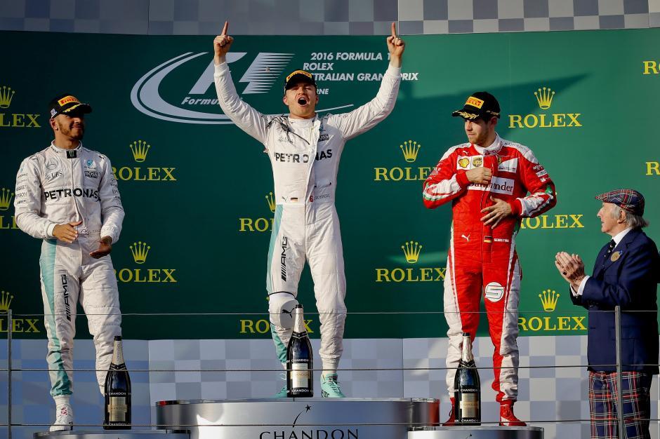 Nico Rosberg ganó la primera carrera del campeonato, seguido de Lewis Hamilton y Sebastian Vettel. (Foto: EFE)